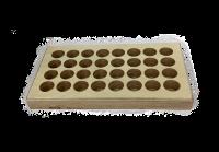 Holzsockel für ER-25-Spannzangen mit 32 Bohrungen Ø 25,0 mm