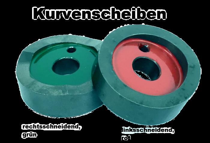Ersatzteile Kurvenscheiben für linksschneidende und Spezialwerkzeuge