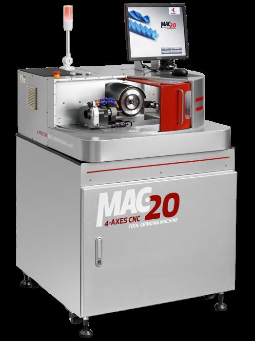 4-Achsen CNC Werkzeugschleifautomat P-MAC 20 mit automatischem Spannfutter